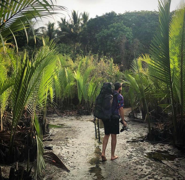 Way through the mangroves to Sin Htauk Beach Bungalows on the Dawei Peninsula