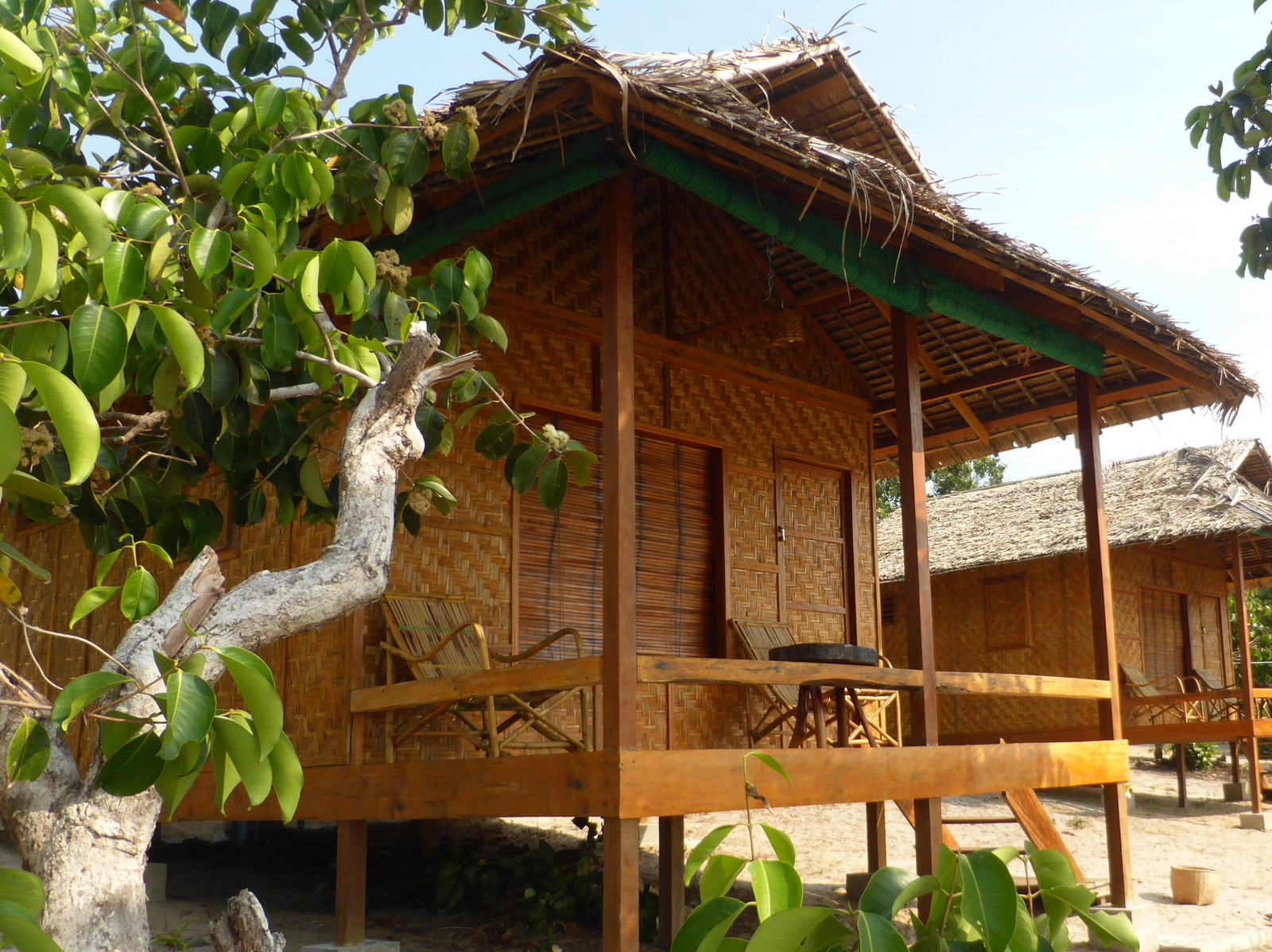 Wooden bungalow in Sin Htauk Beach near Dawei