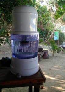 Water Refill Station at Sin Htauk Beach Restaurant