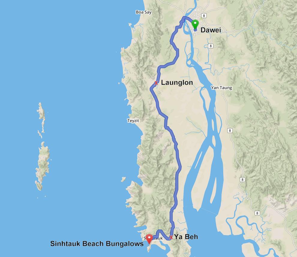 Directions Dawei Sin Htauk Beach